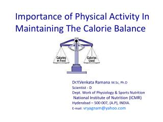 Importance of Physical Activity In Maintaining The Calorie Balance