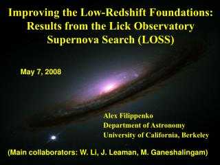 Improving the Low-Redshift Foundations: Results from the Lick Observatory Supernova Search (LOSS)