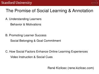 The Promise of Social Learning & Annotation