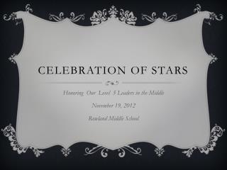 Celebration of Stars