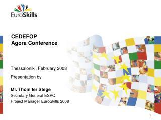 CEDEFOP  Agora Conference