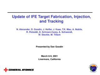 Update of IFE Target Fabrication, Injection, and Tracking