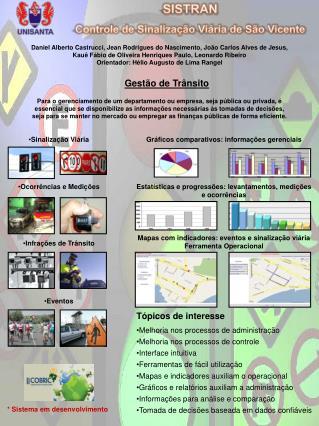 SISTRAN Controle de Sinaliza��o Vi�ria de S�o Vicente