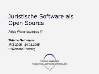 Juristische Software als Open Source