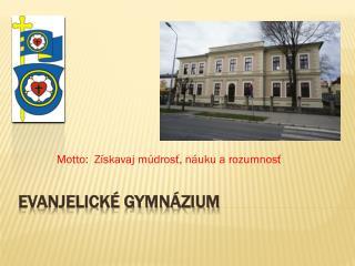 Evanjelické gymnázium