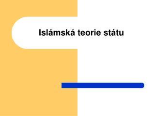 Islámská teorie státu