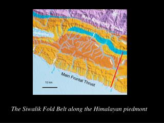 The Siwalik Fold Belt along the Himalayan piedmont