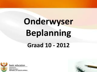 Onderwyser Beplanning