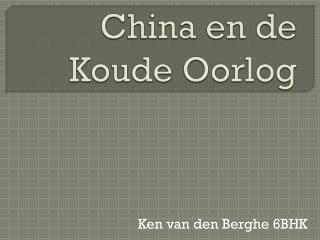 China en de Koude Oorlog