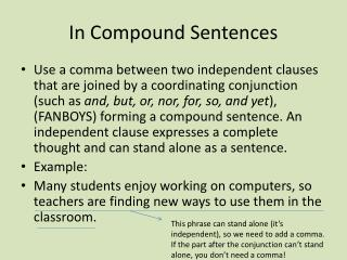 In Compound Sentences