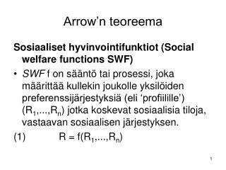 Arrow'n teoreema