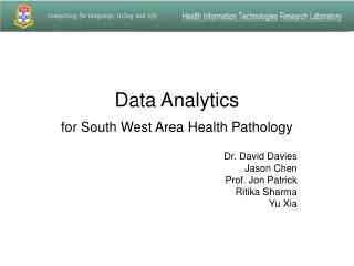 Data Analytics   for South West Area Health Pathology