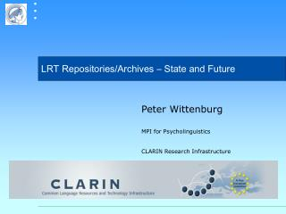 LRT Repositories/Archives � State and Future