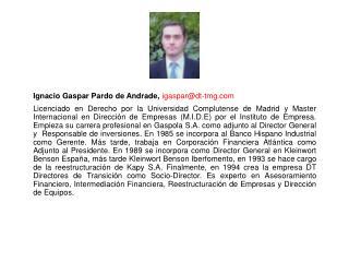 Ignacio Gaspar Pardo de Andrade,  igaspar@dt-tmg