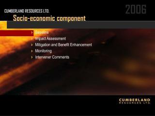 Socio-economic component