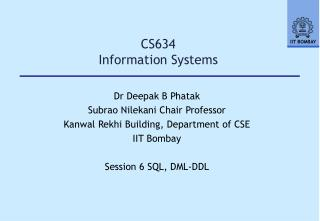 CS634   Information Systems