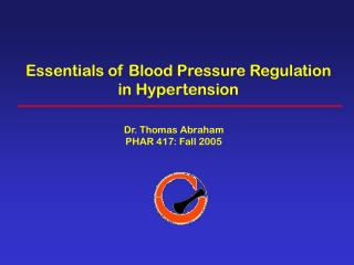 Essentials of Blood Pressure Regulation in Hypertension