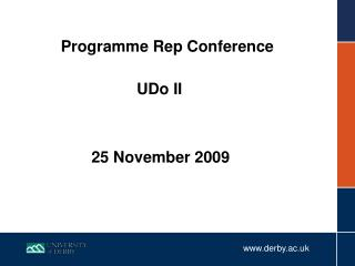 Programme Rep Conference