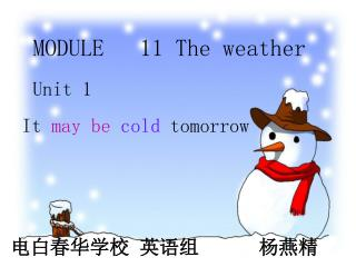 MODULE   11 The weather