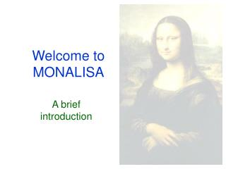 Welcome to MONALISA