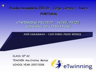 Escola Secundária EB3 Dr. Jorge Correia – Tavira PORTUGAL