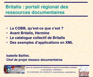 Britalis : portail r�gional des ressources documentaires