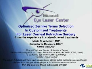 Optimized Zernike Terms Selection In Customized Treatments For Laser Corneal Refractive Surgery