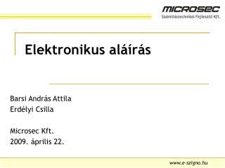 Elektronikus al  r s