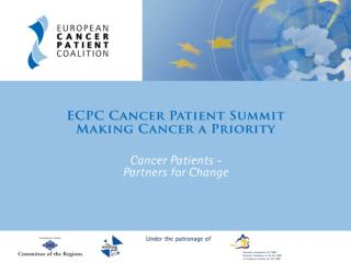 Building political  support to fight cancer Hildrun Sundseth ECPC Head of EU Policy