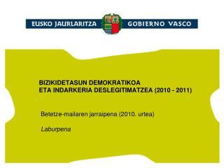 BIZIKIDETASUN DEMOKRATIKOA  ETA INDARKERIA DESLEGITIMATZEA (2010 - 2011)