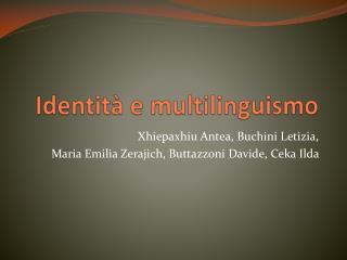 Identità e multilinguismo