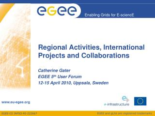 Regional Activities, International Projects and Collaborations