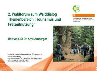 Universität für Bodenkultur Wien Department für Raum, Landschaft und Infrastruktur