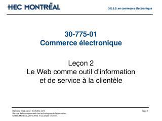 30-775-01 Commerce �lectronique