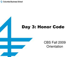 Day 3: Honor Code