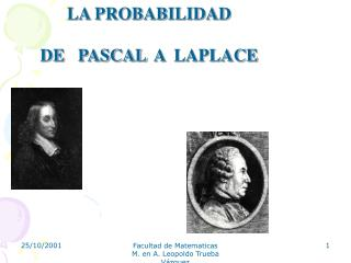 Facultad de Matematicas                     M. en A. Leopoldo Trueba V zquez