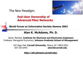 Alan K. McAdams, Ph. D. Senior Member,  Institute for Electrical and Electronics Engineers