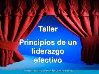 Taller Principios de un liderazgo efectivo