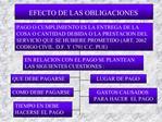 EFECTO DE LAS OBLIGACIONES