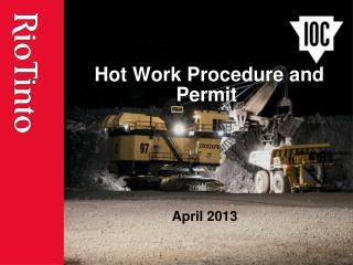 Hot Work Procedure and Permit