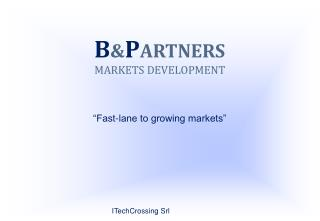"B & P ARTNERS MARKETS DEVELOPMENT ""Fast-lane to growing markets"""