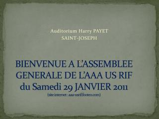 Auditorium Harry PAYET  SAINT-JOSEPH