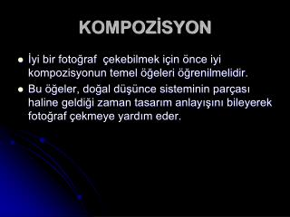 KOMPOZİSYON