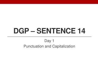 DGP � Sentence 14