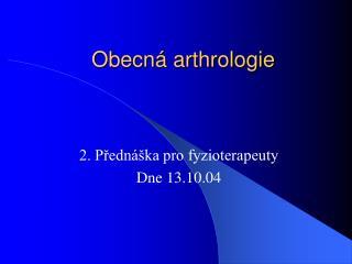 Obecná arthrologie