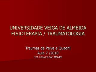 UNIVERSIDADE VEIGA DE ALMEIDA FISIOTERAPIA / TRAUMATOLOGIA