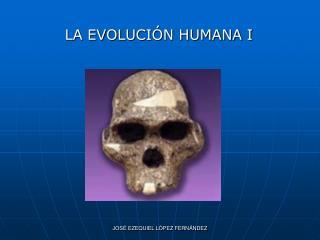 LA EVOLUCIÓN HUMANA I
