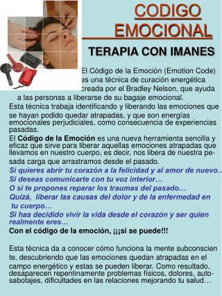 CODIGO                           EMOCIONAL                 TERAPIA CON IMANES