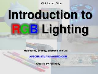 RGB Lighting Flash