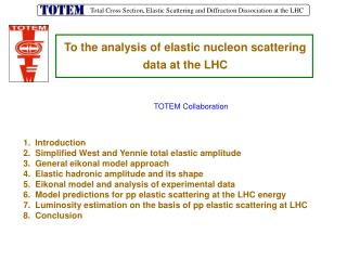 To the analysis of elastic nucleon scattering   data at the LHC